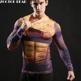 Superman Batman T Shirt Australia - Hot 2017 Superhero Superman Batman Spiderman Men Long Sleeve T Shirt Compression Tights Tops Fitness T-shirt