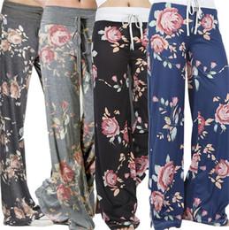 $enCountryForm.capitalKeyWord Australia - New Yoga Pants Ladies Floral Print Trousers Womens Summer High Waist Wide Leg Pants Plus Size Leisure Wear Casual Jogger Dance Harem Pants