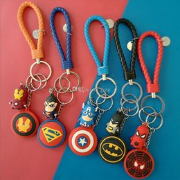 Metal rubber keychain online shopping - The Avengers figure shield key chain bell couple Keychain Car Key Holder Acrylic Bell Anime Key Chain Bag Pendant Bts Accessories Girl Gift