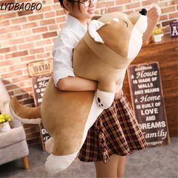 $enCountryForm.capitalKeyWord Australia - 1pc Cartoon Lying Plush Stuffed Dog Big Toys Shiba Inu Dog Doll Lovely Animal Children Birthday Gift Corgi Plush Pillow 40-100cm
