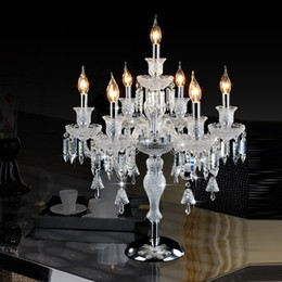 modern luxury table NZ - crystal table lamps for bedroom luxury high quality crystal table lamp for bedroom lobby table lamp decoration desk lighting led