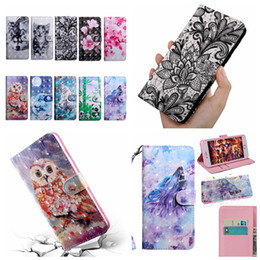 Case samsung owl online shopping - 3D Leather Wallet Case For Samsung A10S A20S A30S A2 Core A10e A20e M40 A60 A80 Flower Dog Wolf Tiger Cat Owl Lace Slot Card Luxury Covers
