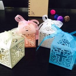 $enCountryForm.capitalKeyWord Australia - 50pcs lot DIY Crossing Candy Boxes Angel Gift Box For Baby Shower Baptism Birthday First Communion Christening Easter Decoration