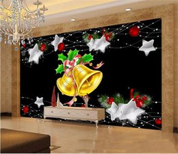 $enCountryForm.capitalKeyWord NZ - custom size 3d photo wallpaper living room bed room mural Christmas bell European style picture sofa TV backdrop wallpaper non-woven sticker