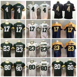 Green Bay Packers Football 17 Davante Adams Jersey Men Green White 20 Kevin  King 23 Jaire Alexander 80 Jimmy Graham 4 Brett Favre c84406bf9