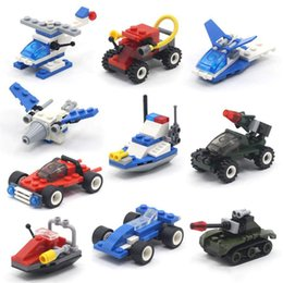 Spelling toyS online shopping - Mini aircraft car model building blocks assembled toys assembled plastic spell insert particles educational toys Kids toys