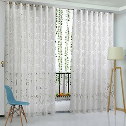 Red vines online shopping - Vine Leaf Partition Curtain for Bedroom Polyester Modern Curtains for Living Room Balcony Window Sheer Curtains