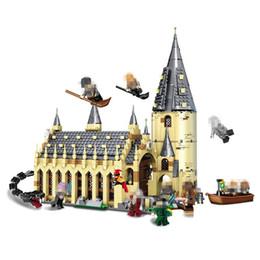 plastic toy castle building blocks 2019 - New 926pcs Legoings Harry Potter Hogwarts Castle Auditorium DIY Model Building Blocks Kit Children Education Toys Birthd
