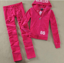 $enCountryForm.capitalKeyWord UK - 2009 Hot Selling European and American Suit Female Autumn PINK Velvet Leisure Sports Female Suit Euro-American Two Suits for Self-cultivatio