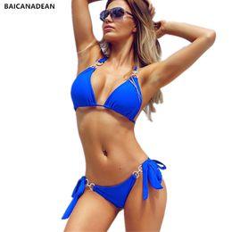 e5941a8bce Bikini Diamond Swimsuit Crystal Women Swimwear Nude Bikinis Brazilian  Rhinestone Beachwear push up Bikini 2019 Bandage Biquini