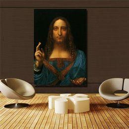 $enCountryForm.capitalKeyWord Australia - Leonardo Da Vinci Salvator Mundi High Quality Hand Painted  HD Print Art painting Home Wall Decor On Canvas Multi sizes  Frame Options p178!