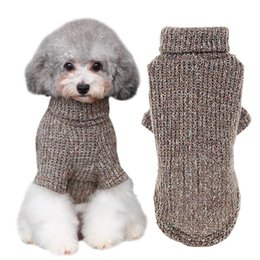 397b35e60682 Warm Dog Cat Clothing Autumn Winter Pet Clothes Sweater For Small Dogs Cats  Chihuahua Pug Yorkies Kitten Outfit Cat Turtleneck Apparel