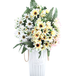 $enCountryForm.capitalKeyWord UK - 27 Heads bouquet Small Aster Artificial Flower Silk Flowers Gerbera Flores Daisy Fake Flower Diy Wedding Garden Decoration A9830