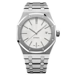 Großhandel klassische mechanische Uhren der Luxusmänner der klassischen Art 42mm Edelstahlarmband hochwertige Armbanduhren Saphir superleuchtend