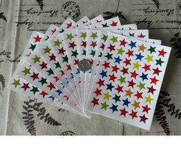 autocollants de récompense gros Livraison gratuite autocollants dessin animé star cadeau de promotion des autocollants pour les étudiants en Solde