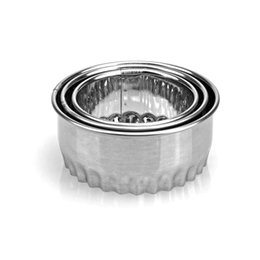 $enCountryForm.capitalKeyWord Australia - 3pcs Stainless Steel Biscuits Cutter Dumpling Wrappers Dough Mould Baking Flower Shape Round Cake Mold