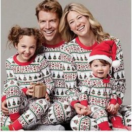 Xmas Kids Adult Family Matching Christmas tree Striped Pajamas Sleepwear  Nightwear Pyjamas bedgown sleepcoat nighty 271 0943d36da