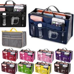 $enCountryForm.capitalKeyWord Australia - 10 Color Women Travel Insert Organizer Handbag Purse Large liner Lady Makeup Cosmetic Bag Travelling Bags Tote 2018