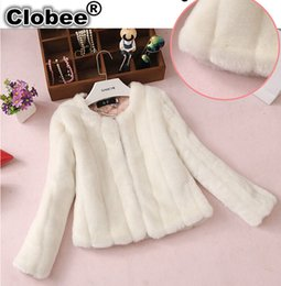 furs wholesale UK - Faux Fur Coat 2020 Winter warm fake Fur Jacket 6XL black white coat large Plus size women Clothing overcaots FF619