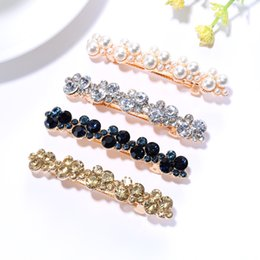 Crystal Plastic Hair Clip Australia - 20 Pcs Fashion Crystal Rhinestone Pearl Hairpins Girls Barrettes Hair Clip Clamp Jewelry Styling Tools Women Hair Accessories