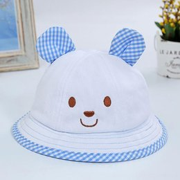cute baby bucket hat NZ - Women Girls Cute Hat High Quality Sweet Rabbit Ear Printed Bucket Hats Baby Convenience Comfortable Outdoor Fishing Sun Caps & Hats Accessor