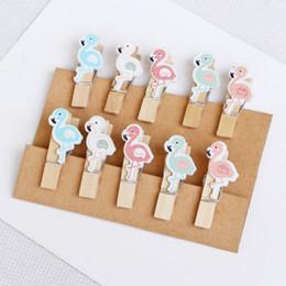 $enCountryForm.capitalKeyWord Australia - Clip Small Wooden Clip Note Bookmark Clip Hemp Rope 10 Loaded Cute Photo Wall Decoration Flamingo