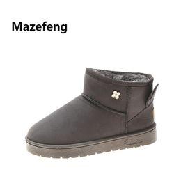 Mazefeng 2018 New Winter Shoes Flock Keep Warm Women Casual Boots Female  Rabbit Ears Cute Boots with Velvet Women Snow 066 9df4e14ea73e
