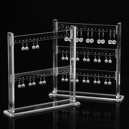 $enCountryForm.capitalKeyWord NZ - [DDisplay] Clean Acrylic Ladder Jewelry Earring Display Transparent Earring Studs Storage Holder Dust-proof Jewelry Organizer Display