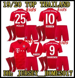 Boy Jerseys NZ - 2019 2020 Bayern Munich Kids Soccer Jerseys 19 20 Youth Boy Home Kits JAMES LEWANDOWSKI MULLER KIMMICH HUMMELS Football shirts Kit Socks