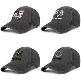 cute animal logos Canada - RAM 3D effect flag logo computer black for men and women trucker denim cap design designer custom blank fitted cute stylish classic les