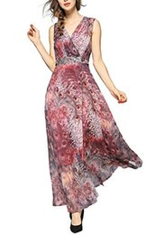 peacock casual dress NZ - EvelynNY Womens Floral Peacock Evening Casual Split Loose Prom Party Maxi Dress