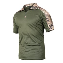 Camouflage T Shirt Men Polyester Australia - New 2018 Summer Tactical Camouflage T Shirt Men Quick Dry Military Uniform T-shirt Breathable Wicking Army Combat Tee Shirts 2xl J190525