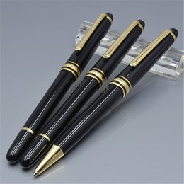 pens ball Australia - School Supplies MB Pen 163 Series Black Resin Roller Ball Pens Fountain Pens School Office Write Stationery pens Gift With Serial Number