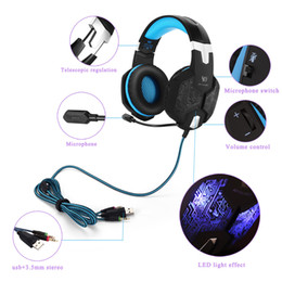 Professional Tablets Australia - EACH G1000 Professional Gaming Headphone PS4 XBOX ONE Headset with Mic Stereo Bass Breathing LED Light PC Tablet 1pcs lot