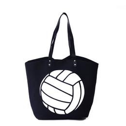 $enCountryForm.capitalKeyWord Australia - Wholesale Ready To Ship Volleyball Tote Bag Canvas Personalized Volleyball Handbag Sport Personalized Gift Shoulder Bag DOM-108348