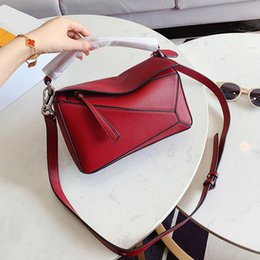 puzzle best Australia - Classical puzzle bag Geometric handbag women crossbody Shoulder Bags small size with box best price free shipping