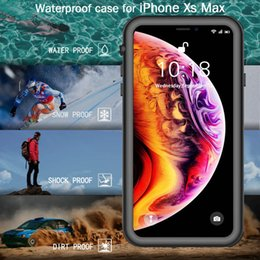 Purple Iphone Screens Australia - For Apple iPhone X XR XS Max Full-body Rugged Case Clear Back Slim Case Waterproof Underwater Dirtproof fre with Screen Protector