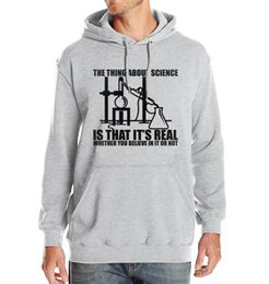 print science 2019 - Science Real Believe Or Not Funny Print Hoody Men 2019 Spring Winter Fleece Sportsman Wear Fashion Tracksuits Harajuku H