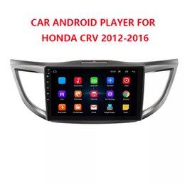 Venta al por mayor de 10.1 pulgadas Pure Android 8.1 Car DVD Quad Core 16G ROM 1024 * 600 Pantalla Car Raio HONDA CRV2012-2016 WIFI MIRROR LINK bluetooth