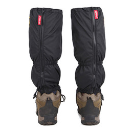 boot leg gaiters UK - Wholesale-Waterproof Legging Gaiter Leg Cover Windproof Sandproof Snow Camouflage Boots Cover for Camping Hiking Travel Kit 25*43CM