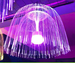 changing fiber optic Australia - 80CM.60CM Colorful LED Fiber Optic Jellyfish Fairy Light String Garland Outdoor Holiday Wedding Optic Fiber Christmas Light Chandelier