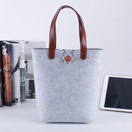 Folding rolling shopping bag online shopping - Non Woven Fabrics Handbag Felt Shopping Bag Storage Bags Pure Color High Capacity Hot Sale fl UU