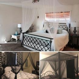 $enCountryForm.capitalKeyWord Australia - European Style Mosquito Net Large Double Bed Gauze 4 Corner Post Mosquito Net Bedroom Decoration Romantic Hanging Bed Valance