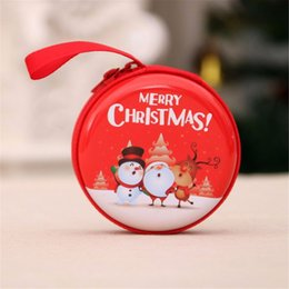 travel cable organizer bag 2019 - Mini Small Size Christmas Printed Coin Storage Bag Money Box For USB Cable Coin Holder Best Gifts Zipper Travel Organize