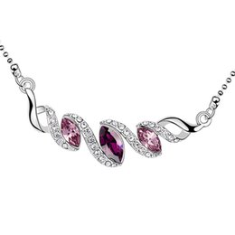SwarovSki acceSSorieS online shopping - New fashion luxury designer necklace made with Swarovski elements crystal for bridal wedding jewelry accessories best bijoux Christmas gift