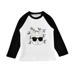 $enCountryForm.capitalKeyWord Australia - Easter 4 Color Autumn New Children's Clothing Hip Hop Sunglasses Rabbit Letter Rags Long-Sleeved T-shirt 12M-5Y Boys And Girls free ship