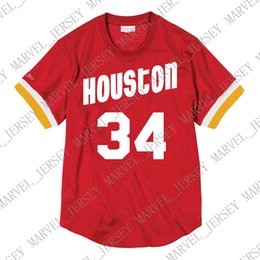3030957cde3 Cheap Custom Hakeem Olajuwon Mitchell   Ness Men s Mesh Jersey Shirt Mens  stitched Summer Tee Retro basketball jersey