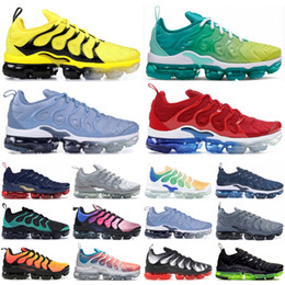 Lemon prints online shopping - Trainers Plus Be True TN Running Shoes Triple Black White Lemon Lime Grid Print Men designer shoes Bumblebee Men Women Golf Sneakers