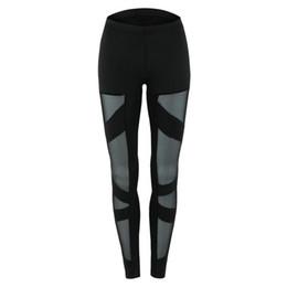 $enCountryForm.capitalKeyWord UK - Sexy Fitness Leggings Cut-out Bandage Lace Mesh Insert Cross Pants Fashion Fitness Wear Yoga Outfits Wholesale