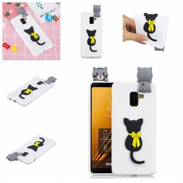 panda covers Australia - Pasted 3D Funny Panda Dog Cat Pineapple for Galaxy A8 Plus 2018 Case Cover Sticking a Little Silicon Doll 61 Models Option